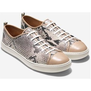 Cole Haan Hendrix Snakeskin Leather Sneakers